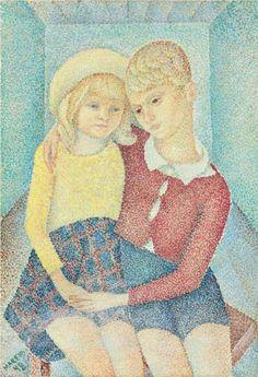 Two children - Marevna (Marie Vorobieff)