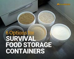 6 Options for Survival Food Storage Containers post image