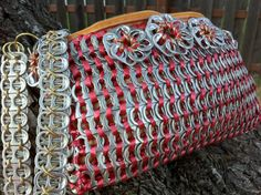 Upcycled Aluminum Soda Pop Can Tab Hip Bag in by BeasCollectibles, $64.00