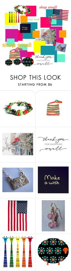 """LET'S ALL SHOP SMALL"" by igottahaveitnecklace ❤ liked on Polyvore featuring Evergreen Enterprises"