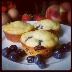 Blueberry muffins with applesauce
