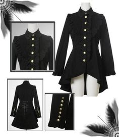 """Gorgeous, gorgeous jacket. I think I must wave this picture at the Infamous BlueJay and talk about jacket ideas. Look at all those buttons! ashorttermeffect: """" The article is shit, but the jacket is fab-u-lous! """""""