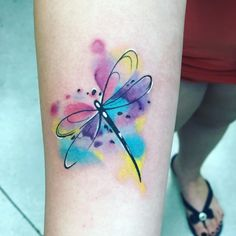 Tattoo competition page for Best Watercolor World Famous Tattoo Ink, Famous Tattoos, Mom Tattoos, Small Tattoos, Sleeve Tattoos, Tatoos, Watercolor Dragonfly Tattoo, Dragonfly Tattoo Design, Tattoo Designs