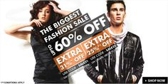 The Biggest Fashion Sale - Upto 60% Off + Extra 31% Off On Orders Above Rs. 1999