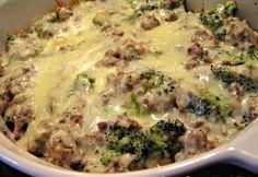 Low Carb Rezepte: Hackfleisch, Broccoli Alfredo - Low Carb - nicht EINE Sekunde glsube ich, dass das nicht dick macht oder dass es gesund ist. Low Carb lächerlich.