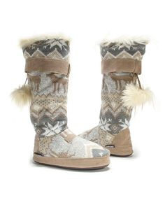 mukluks $19.99, great deal and so comfy! Love mine! Winter White Winnie Slipper Boot - Women #zulilyfinds