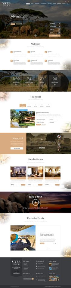 Siver - Luxury Resort PSD Template #restaurant #travel • Download ➝ https://themeforest.net/item/siver-luxury-resort-psd-template/14978336?ref=pxcr