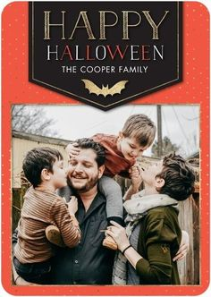 Send a Halloween photo card to share the love you have for your little monsters.