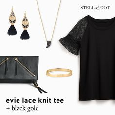 Stella & Dot's newly-launched tops look great with our jewelry and accessories. See more on my VIP FB page at https://www.facebook.com/groups/358290064532738/ or message me for details!   #evietee