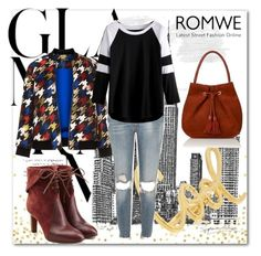 """""""BLACK AND WHITE T-SHIRT ROMWE CONTEST !"""" by jasmine-monro ❤ liked on Polyvore featuring Manon Baptiste, River Island and Chloé"""