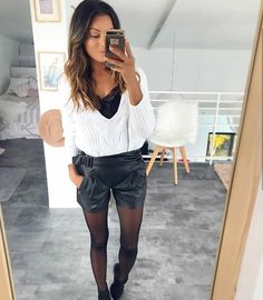 Instagram: sam_nounette Short Outfits, Stylish Outfits, Cool Outfits, Fashion Outfits, Womens Fashion, Fall Winter Outfits, Autumn Winter Fashion, Spring Outfits, Spring Fashion