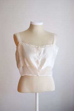 1920s Cream Camisole / 1920s Lingerie M by LoveCharles on Etsy