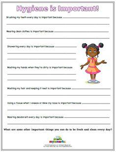 Common Worksheets free printable hygiene worksheets ...
