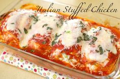 Italian Stuffed Chicken. Make my own version without all the cheese.