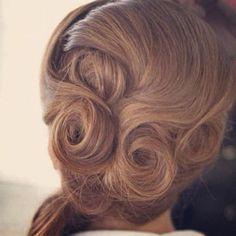 Pin curls, Vintage hair, bridal inspiration   www.makeupbyjodie.co.uk