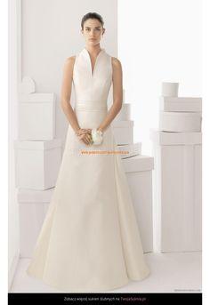 Robe de Mariée évasée avec traine détachable en satin