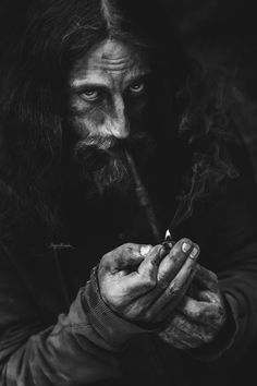 The pipe-smoking prophet is a creation by the artist Alexandru Moga. Senior Boy Poses, Senior Portrait Poses, Man Portrait, Pipe Smoking, Man Smoking, Fantasy Male, Dark Fantasy, Character Inspiration, Character Art
