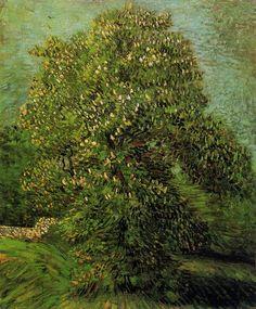 emptythreats:sealmaiden:    Vincent Van Gogh    Chestnut Tree in Bloom1887    oil on canvas