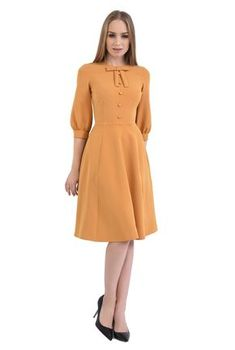 POEMA Online Shop: ROCHIE CASUAL MIDI R 542-MUSTAR - Pret: 179 Lei - Transport gratuit peste 50 Lei - Livrare in 24H Modest Dresses, Simple Dresses, Elegant Dresses, Pretty Dresses, Beautiful Dresses, Casual Dresses, Winter Dresses, Modest Fashion, Fashion Dresses