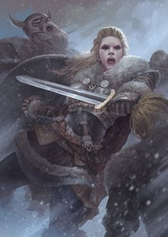 Vikings : Lagherta the shield maiden by Stupid-Crow.deviantart.com on @deviantART