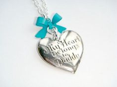 My Heart Belongs To Daddy Silver Charm Necklace - Daddys Girl Necklace - I Love My Daddy - Daughter Gift - Kids Jewelry - Memorial Jewelry by BellaAniela on Etsy https://www.etsy.com/listing/181307936/my-heart-belongs-to-daddy-silver-charm