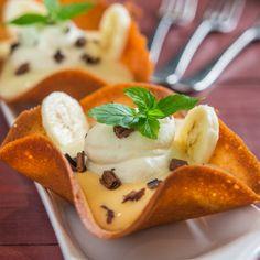 Banana Pudding in Vanilla Wafer Cups