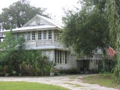 Captain Sharpes house in Sharpes, Florida on the river road north of Cocoa. In later years it was the Pinkerton house, then the Wenner house.