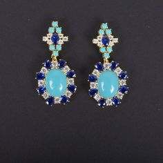 Cartouche Earring Turquoise now featured on Fab.