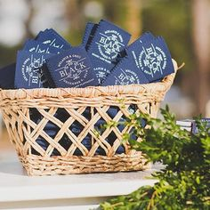 Come and get your coozies!! Navy and gold will keep your drink cold, and lovely! Xoxo @weddingchicks #coozies #favors #wedding #drinks #instafollow