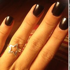 Color gel over acrylic(; makes colored nails look longer(: and last a long time