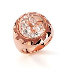 Shining Stars ring by Reena Ahluwalia for Royal Asscher in 18k rose gold–plated sterling silver with 0.50 ct. t.w. floating diamonds and rose enamel.