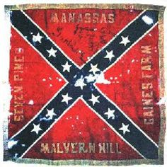 Battle flag of the 11th Mississippi lost at Gettysburg on Cemetery Ridge July 3, 1863
