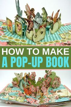 Pop_up book tutorial It's much easier than you think! Learn the secrets and techniques to create a DIY pop-up book! Pop Up Art, Arte Pop Up, Paper Crafts For Kids, Diy Arts And Crafts, Book Crafts, Craft Books, Paper Crafting, Tarjetas Pop Up, Popup