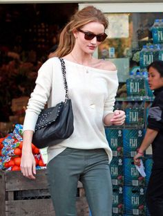 Rosie Huntington-Whiteley Skinny Jeans - Rosie Huntington-Whiteley Looks - StyleBistro