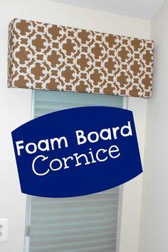 Cornice from Foam Board; pelmet board; widow treatment