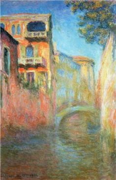 Rio della Salute 03 - Claude Monet. I like the way the the blending of the colors looks.