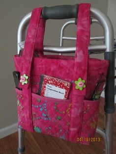 Walker Bag and Handbag in One. This Mother's Day give Mom a convenient way to carry her belongings with her all day.