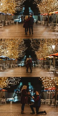 He pulled off the most romantic holiday proposal under the lights, and the full story is so magical. Best Proposals, Wedding Proposals, Marriage Proposals, Romantic Proposal, Perfect Proposal, Romantic Weddings, Proposal Pictures, Proposal Ideas, Wedding Pictures