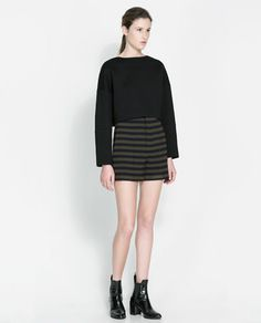 ZARA - NEW THIS WEEK - STRIPED HIGH WAIST SHORTS - amazing as trousers