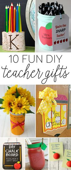A round-up of 10 fun DIY teacher gift ideas that are fun, inexpensive and…