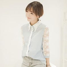 Buy 'QZ Lady – Lace 3/4-Sleeve Blouse' with Free International Shipping at YesStyle.com. Browse and shop for thousands of Asian fashion items from China and more!