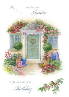 Leading Illustration & Publishing Agency based in London, New York & Marbella. House Illustration, Vintage Cards, Urban Art, Flower Art, Watercolor Paintings, Art Drawings, Just For You, Clip Art, Artist