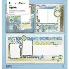Marjolaine  Page Kit  Basic Grey by itsalwaysfabulous on Etsy, $9.00
