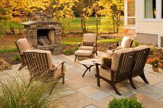 fire place & patio