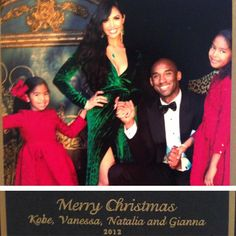 Kobe Bryant's wife Vanessa dons plunging Gucci gown for glamorous family photo. just a year after filing for divorce Kobe Bryant And Wife, Kobe Bryant Family, Kobe Bryant Nba, Dez Bryant, Gucci Gown, Kobe Mamba, Kobe Bryant Pictures, Family Christmas Cards, Christmas Pics