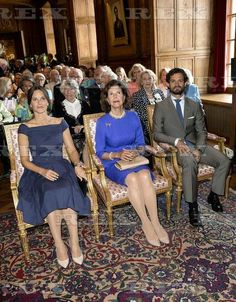 Designs for a Princess - The Lilian Look!' exhibition launch, Stockholm, Sweden - 28 Aug 2015 Princess Sofia, Prince Carl Philip, Queen Silvia 28 Aug 2015