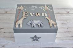 Excited to share the latest addition to my shop: Personalised keepsake boxes for babies- Jungle memory box kids- Jungle Keepsake Box Boys- Popsyclunk Wooden Memory Box, Wooden Keepsake Box, Baby Keepsake Boxes, Kids Storage Boxes, Personalized Gifts For Kids, Personalised Baby, Baby Memories, Memories Box, Baby Box