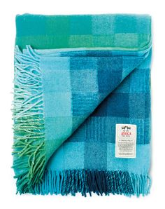 Spectrum Aqua Lambswool throw | Flickr - Photo Sharing!