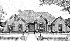 House Plan 98548   European    Plan with 2257 Sq. Ft., 4 Bedrooms, 3 Bathrooms, 3 Car Garage