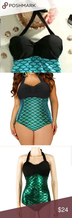 Plus Size Mermaid Swimwear Black Color: (Black 2XL) Sleeve : Sleeveless  Packing: 1 x Fashion Swimwear plus   Swimsuit Specifications   Women's sexy and attractive one-piece swimwear beachwear.  Fashionable and beautiful design,  available in different styles.  Soft and breathable material,  elastic,  comfortable to wear.  A good choice for this summer,  also a good gift for your friend Perfect for beach holiday,  swimming,  bathing,  and pool party.   Care Instructions:  Hand wash in cold…
